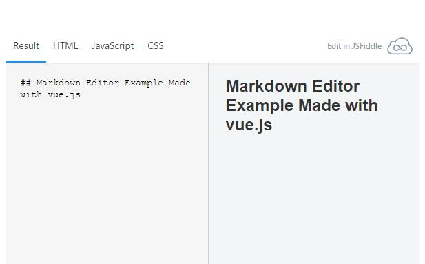 Markdown Editor Example Made with vue js