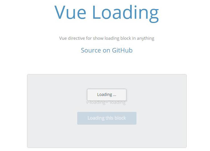 Vue Loading:Vue directive for show loading block in anything