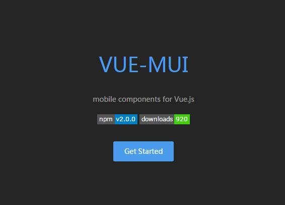 mobile components for Vue.js