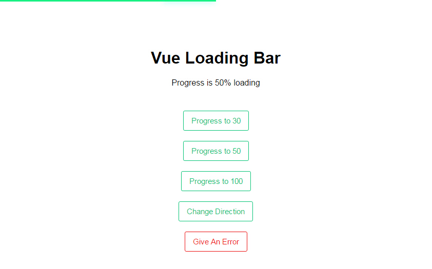 Youtube Like Loading Bar Component for Vue.js