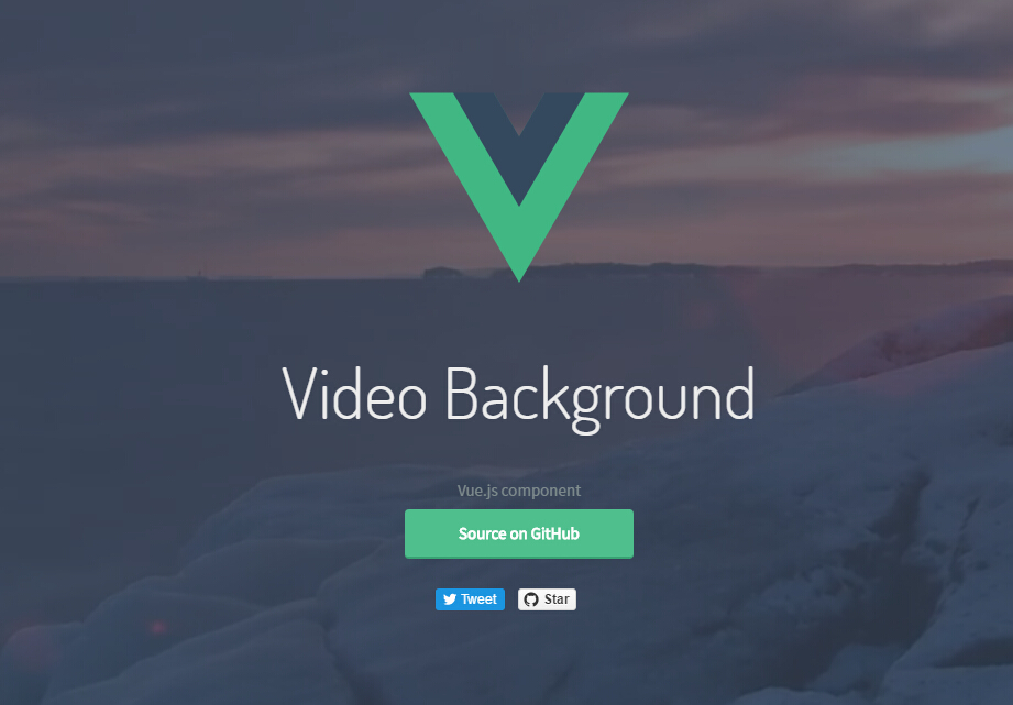 Video Background component for Vue.js