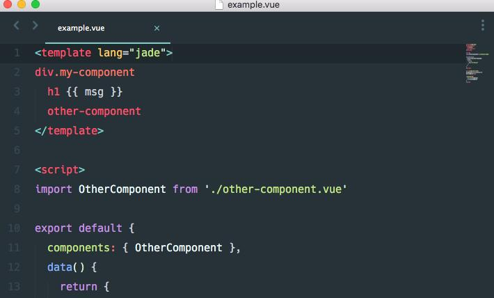 Webpack loader for Vue.js components