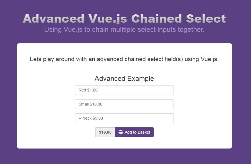 Advanced Vue.js Chained Select