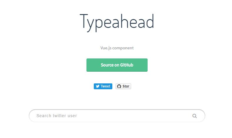 Typeahead component for Vue.js