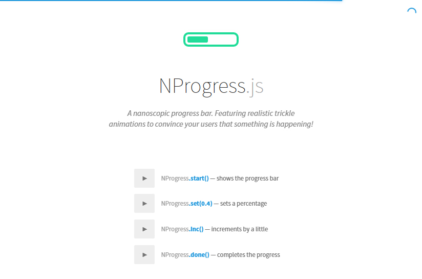 Progress bars is based on nprogress for Vue