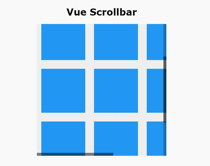 Simplest Scroll Area Component with custom scrollbar for Vue Js