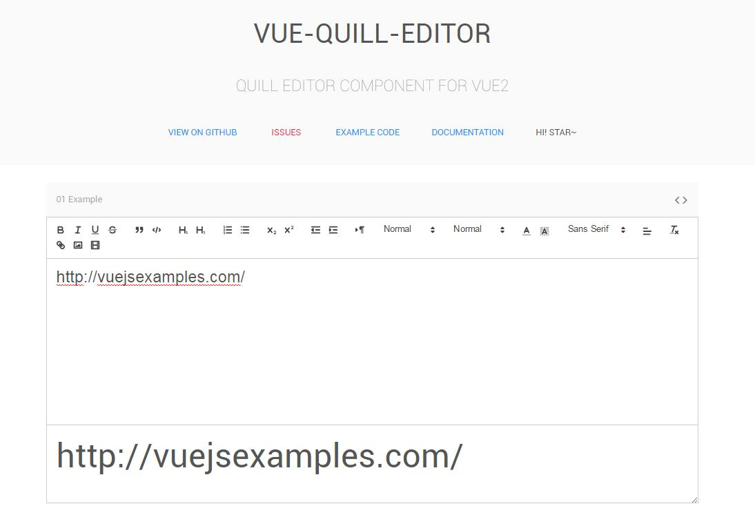 Quill editor component for Vue2