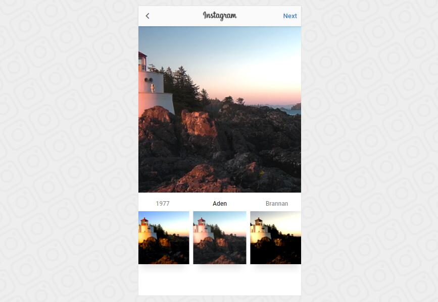 Instagram filter Built with Vue.js