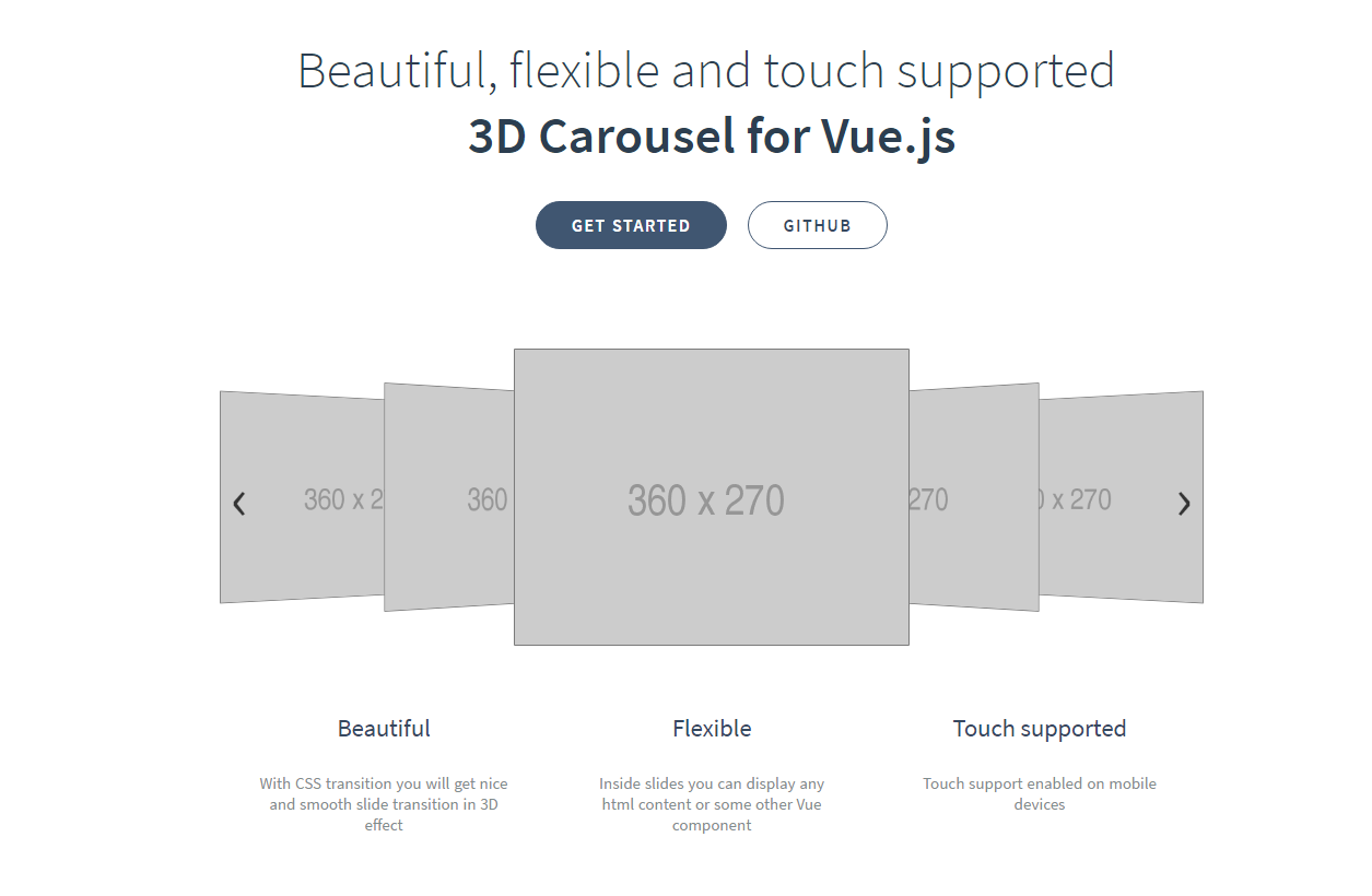 carousel 3d with vue.js