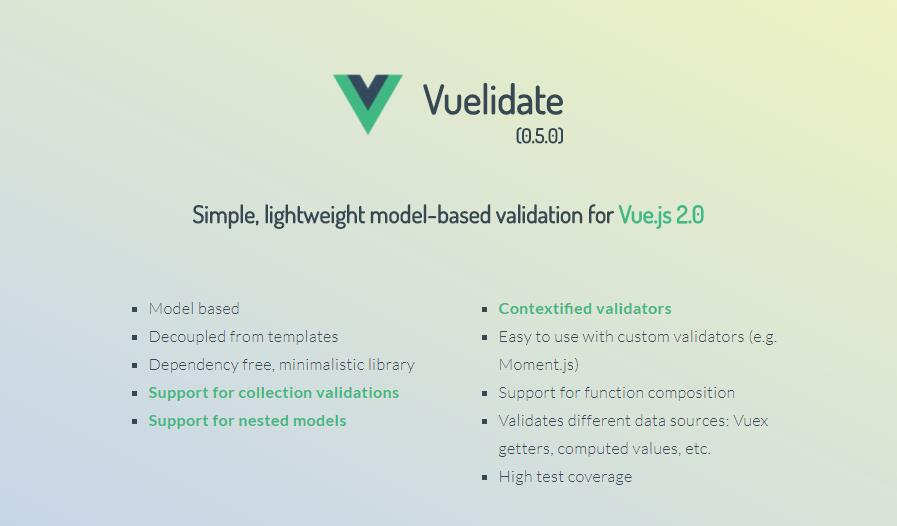 Vuelidate : Simple, lightweight model-based validation