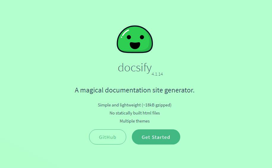 Docsify : A magical documentation site generator