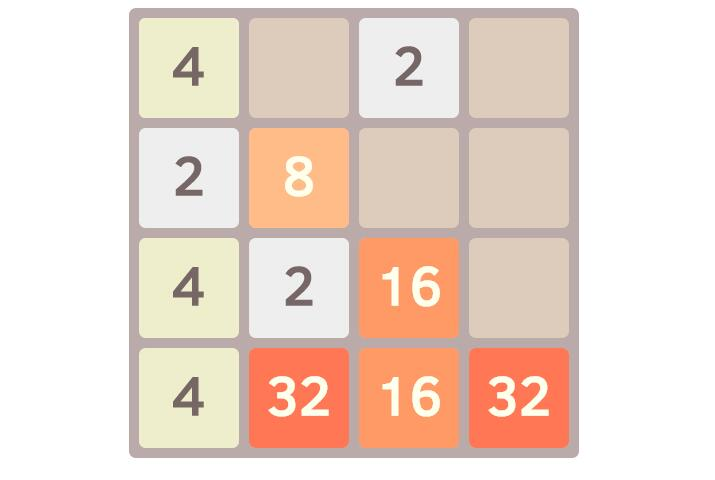 Popular 2048-Game implemented using Vue