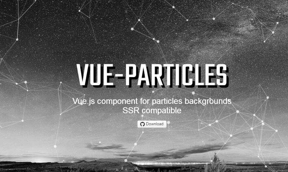 Vue.js component for particles backgrounds