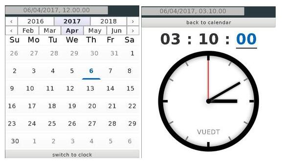 Crazy lightweight Vuejs Date and Time picker component