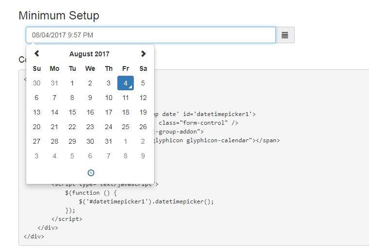 Vue js component for eonasdan bootstrap datetimepicker
