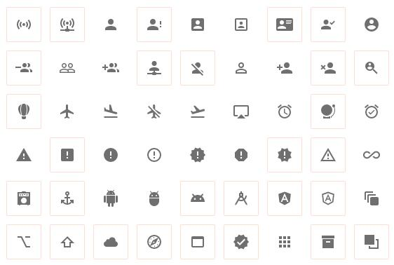 A collection of SVG Material Design icons as single file
