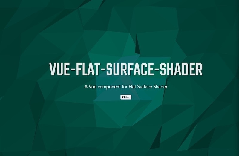 A Vue component for flat surface shader