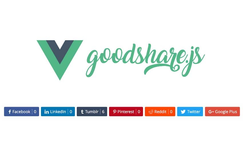 Vue.js component for social share