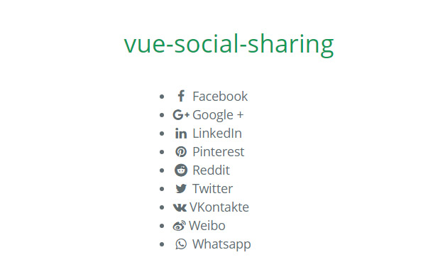 A Vue.js component for sharing links to social networks