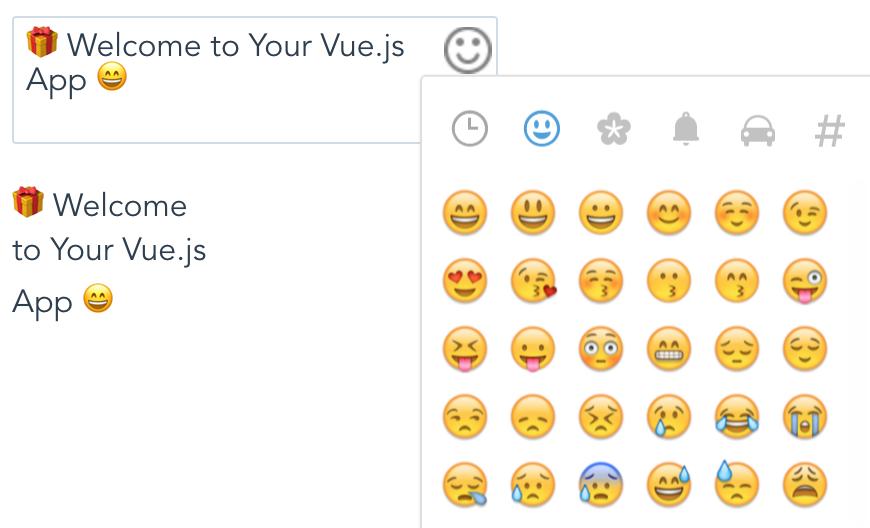 Add emoji keyboard to your vuejs project