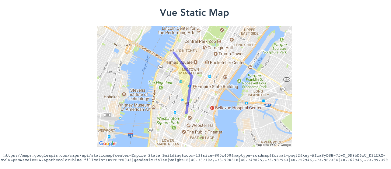 A simple component to generate static google map