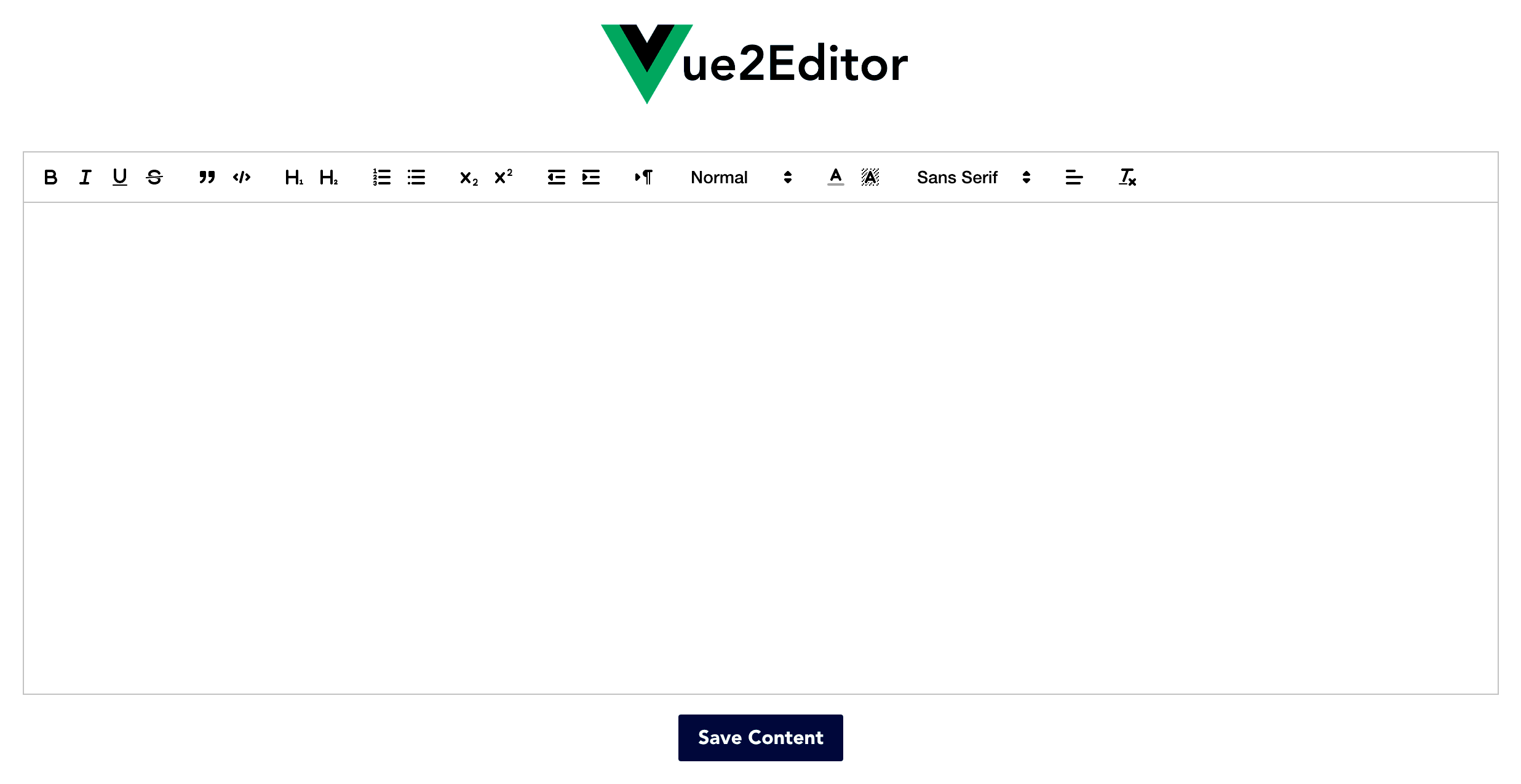 A text editor using Vue js and Quill