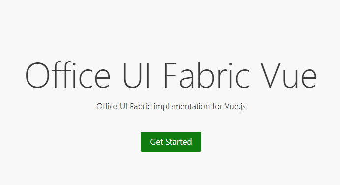 Office UI Fabric implementation for Vue.js