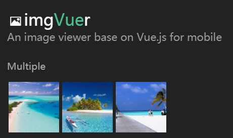 An image viewer base on Vue.js for mobile