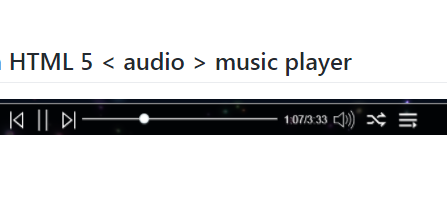 Web pages based on HTML 5 music player