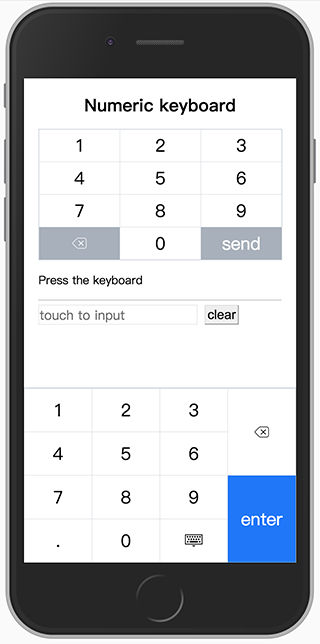 A custom virtual numeric keyboard works in mobile browsers