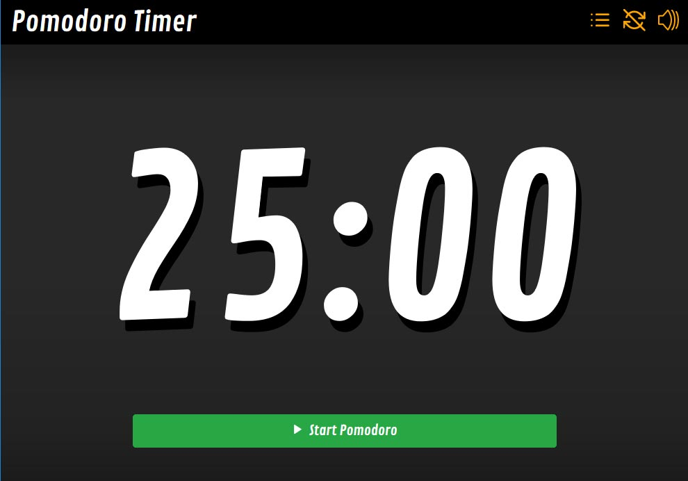 Timer for Pomodoro Technique built on Vue.js