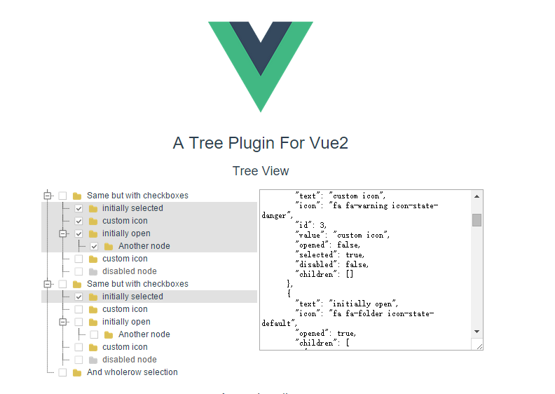 A tree plugin for vue2