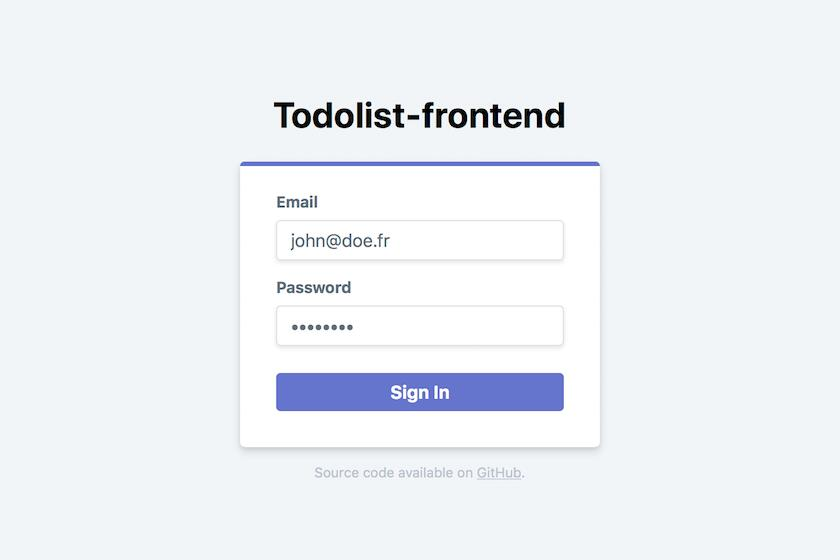 Front-end application for Todolist Web application built with Laravel and Vue.js