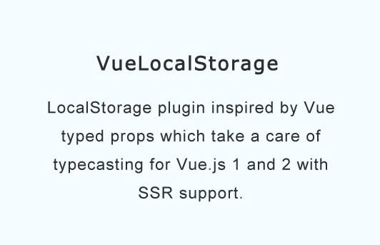 Vue.js localStorage plugin with types support