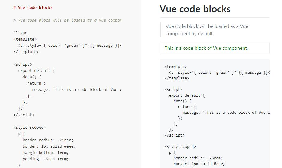 Markdown to Vue component loader for Webpack