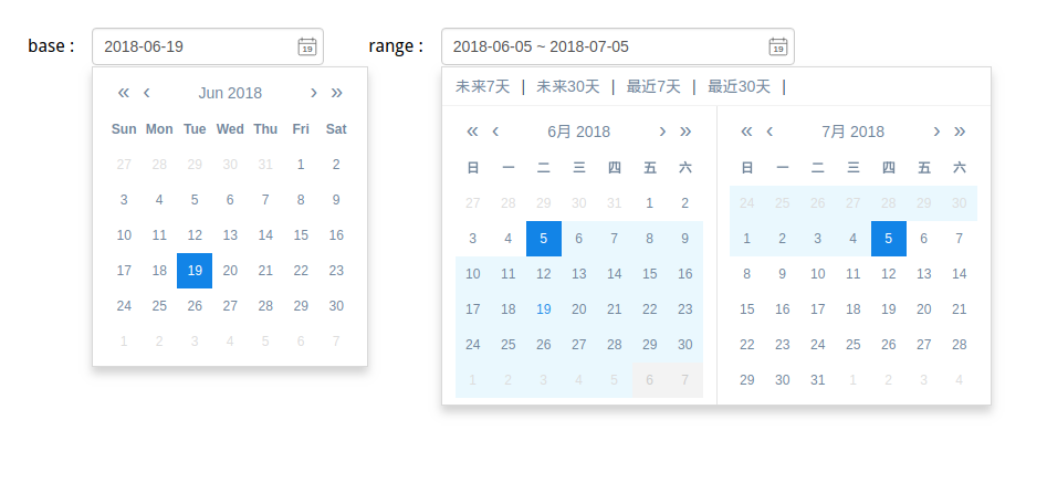 A datepicker / datetimepicker component for Vue2