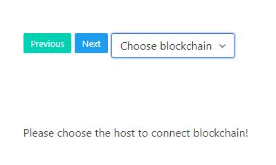 A simple app explore ethereum blockchain with vuejs