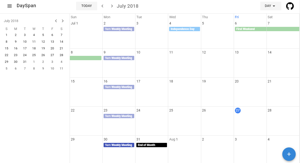 A collection of components that visualizes DaySpan Calendars and Schedules using Vuetify