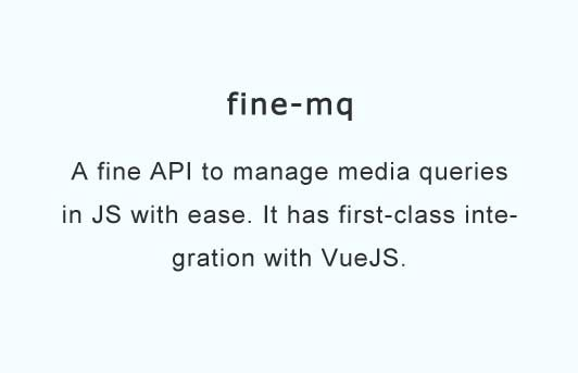 A fine API to manage media queries in JS with ease