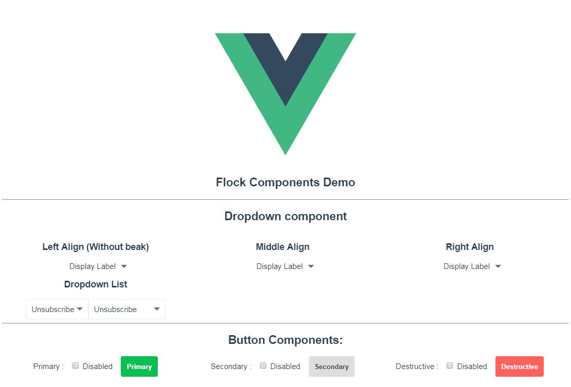 Reusable components adhering to the Flock Design written in VueJS