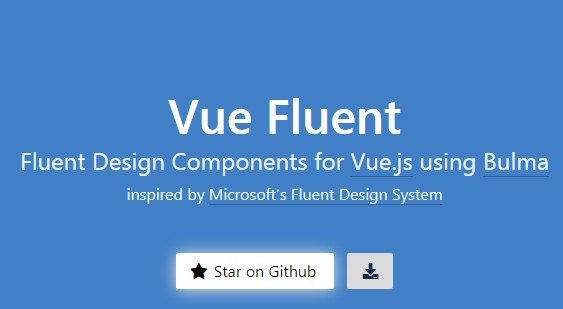 Vuejs 2+ components built using Microsoft's Fluent Design System