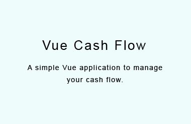 A simple Vue application to manage your cash flow