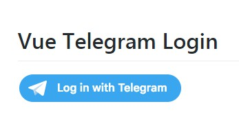 Vue component for Telegram login