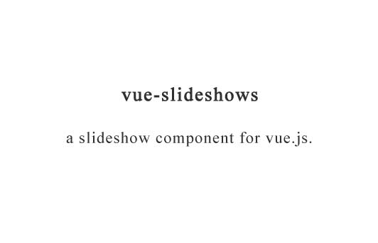 A slideshow component for vue.js
