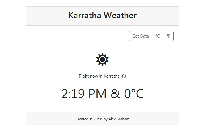 Small VueJS application to fetch weather data from the Bureau of Meteorology