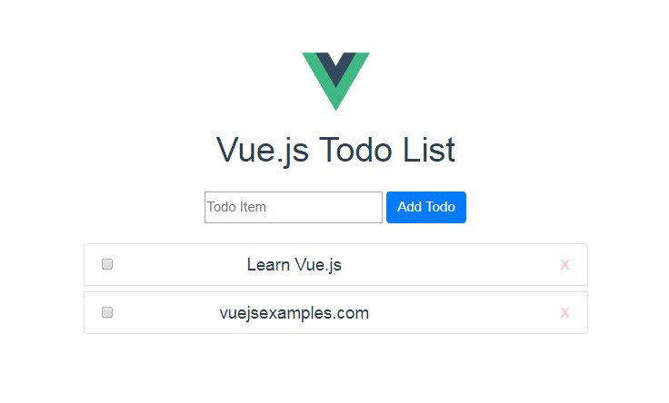 A todo list made with Vue.js