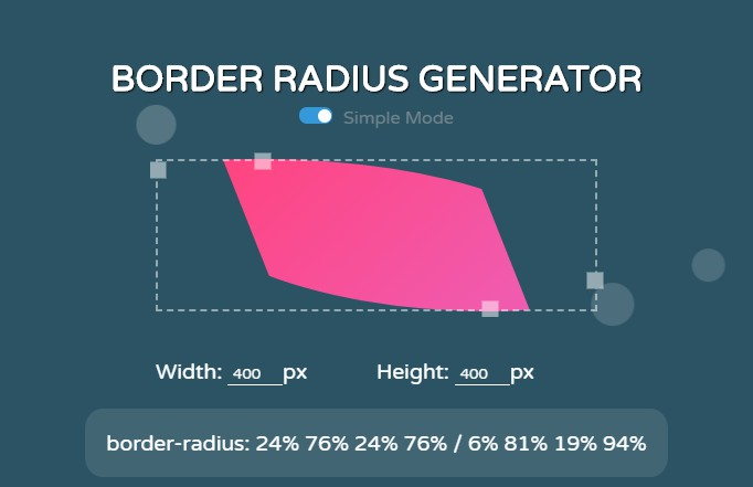 Easily create and generate border radius with vue