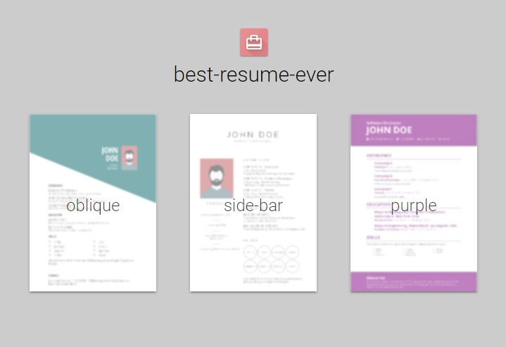 Build fast and easy multiple beautiful resumes with Vue and LESS