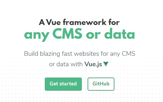 Build blazing fast websites for any CMS or data with Vue.js