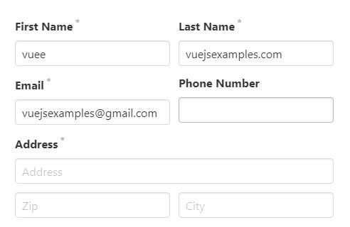 Generate a vue form with validation and bulma style from json